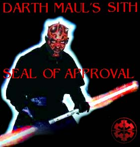 Darth Maul's Sith Seal of Approval